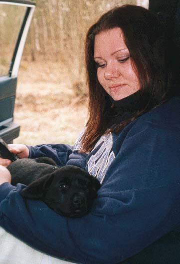 Emma o Cosy  på väg hem 8 veckor gammal